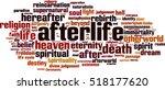 afterlife word cloud concept.... | Shutterstock .eps vector #518177620