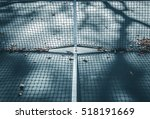 abstract tennis court center... | Shutterstock . vector #518191669