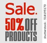 super sale  paper banner  sale... | Shutterstock .eps vector #518195170