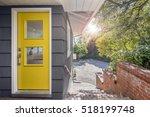 Modern Yellow Front Door With...