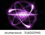 close up of pink atomic... | Shutterstock . vector #518202940