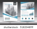 blue cover annual report... | Shutterstock .eps vector #518204899