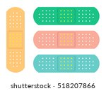 colorful plasters | Shutterstock .eps vector #518207866