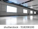 blank advertising billboard in... | Shutterstock . vector #518208100