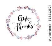 give thanks season hand drawn... | Shutterstock .eps vector #518213524