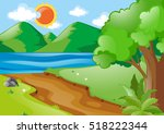 Nature Scene With River And...