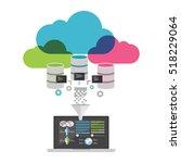 big data analysis. data mining... | Shutterstock .eps vector #518229064