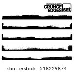 hand drawn edges pattern... | Shutterstock .eps vector #518229874