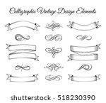 ribbons  vintage elements and... | Shutterstock .eps vector #518230390