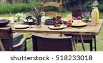 table food lunch variety concept | Shutterstock . vector #518233018