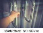 man hand prepare to open the...   Shutterstock . vector #518238940