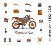 cross motorcycle  isolated...   Shutterstock .eps vector #518240638