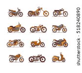 motorcycles icons set  vector... | Shutterstock .eps vector #518240890