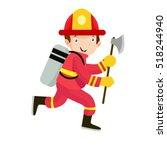 fireman illustration vector   Shutterstock .eps vector #518244940