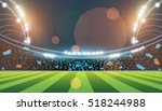 sports stadium with lights ... | Shutterstock .eps vector #518244988