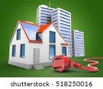3d illustration of modern house ... | Shutterstock . vector #518250016