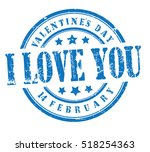 """stamp with text """"i love you""""... 