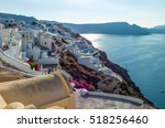 santorini  greece   october 13  ... | Shutterstock . vector #518256460