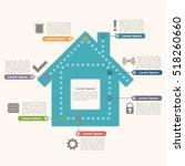 house infographics design... | Shutterstock . vector #518260660