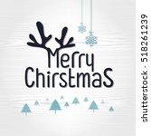 retro vintage merry christmas... | Shutterstock .eps vector #518261239