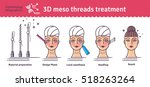 vector illustrated set with 3d... | Shutterstock .eps vector #518263264