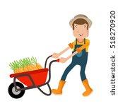 farmer farm illustration vector   Shutterstock .eps vector #518270920