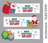 christmas sale banner | Shutterstock .eps vector #518272990