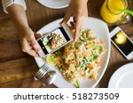 hands with the phone close up... | Shutterstock . vector #518273509