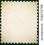 old posted stamp reverse side...   Shutterstock . vector #518273758