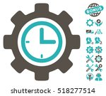 time setup gear icon with bonus ... | Shutterstock .eps vector #518277514