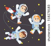 group of astronaut in space | Shutterstock .eps vector #518278183