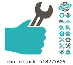 service hand pictograph with... | Shutterstock .eps vector #518279629