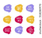 a set of sale cards vector... | Shutterstock .eps vector #518280970