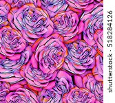 roses.seamless background.... | Shutterstock . vector #518284126
