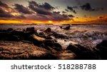 sunset. beautiful sunset black... | Shutterstock . vector #518288788