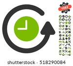 restore clock icon with bonus... | Shutterstock .eps vector #518290084