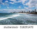 stormy mediterranean sea at tel ... | Shutterstock . vector #518291470