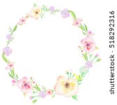 floral watercolor painting on... | Shutterstock . vector #518292316