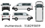 minivan vector template on... | Shutterstock .eps vector #518295859