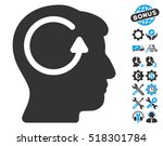 refresh head memory icon with... | Shutterstock .eps vector #518301784