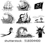 Black And White  Vector Images...