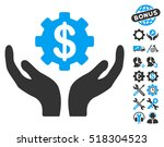 maintenance price pictograph... | Shutterstock .eps vector #518304523