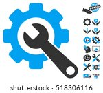 gear and wrench icon with bonus ... | Shutterstock .eps vector #518306116