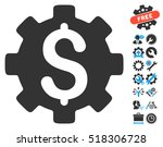 development cost icon with... | Shutterstock .eps vector #518306728