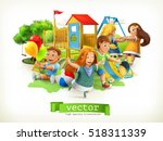 park  kids playground. outdoor... | Shutterstock .eps vector #518311339