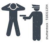 arrest rubber seal stamp... | Shutterstock .eps vector #518311354