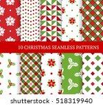 ten christmas different... | Shutterstock .eps vector #518319940