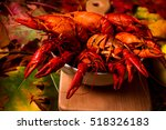 Crayfish On A Autumn Leaves...