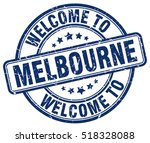 welcome to melbourne. stamp. | Shutterstock .eps vector #518328088