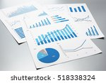 business documents. graphs and... | Shutterstock . vector #518338324